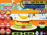 Banana Cheesecake Decoration