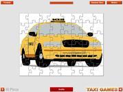 Cartoon Taxi Jigsaw