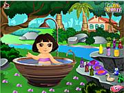 Cute Dora Bathing