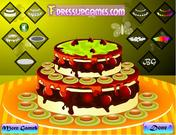Double layer cake decor
