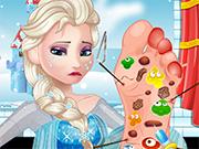 Elsa Foot Doctor Game