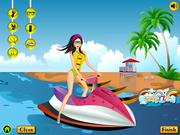 Fun ride beach girl