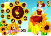 Happy Sunflower Girl