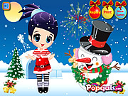 Merry Christmas-Noel and Snowman