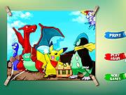 Pikachu Kids Coloring