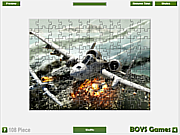 Plane Jigsaw Game