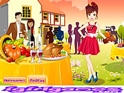 Pretty Thanksgiving Party Girl