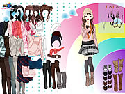Play Rainbow Dressup 3