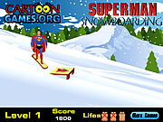 Snowboarding Superman