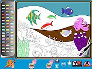 Undersea Life Online Coloring Page