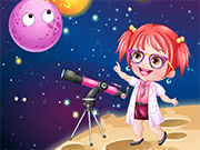 Baby Hazel As Astronomer Dressup