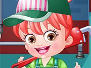 Play Baby Hazel Plumber Dressup