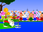 Bunny Bloony 4  The paper boat