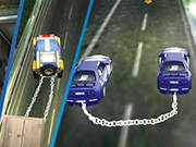 Chained Impossible Driving Police Cars