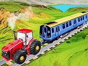 Chained Tractor Towing Train Game