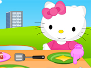 Hello Kitty Cooking Princess Burger