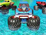 Monster Truck Water Surfing: Truck Racing Games