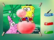 Spongebob And Patrick Coloring Game