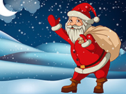 Santa Claus Gift Bag Jigsaw