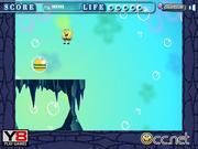 SpongeBob is eating hamburger y8