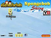 Spongebob Skiing